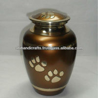 Brass Pet Paw Urns
