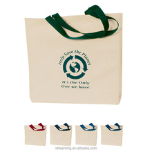 Recycle Cotton Canvas Tote Soft Loop Plastic Poly Bag