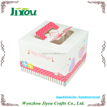 customized cheap food grade wedding cake box with handle