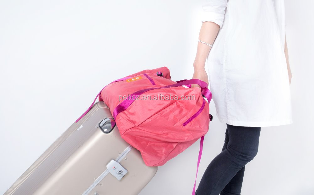 2015 travel trolley luggage bag promotion student duffle bag sports travel luggage bag