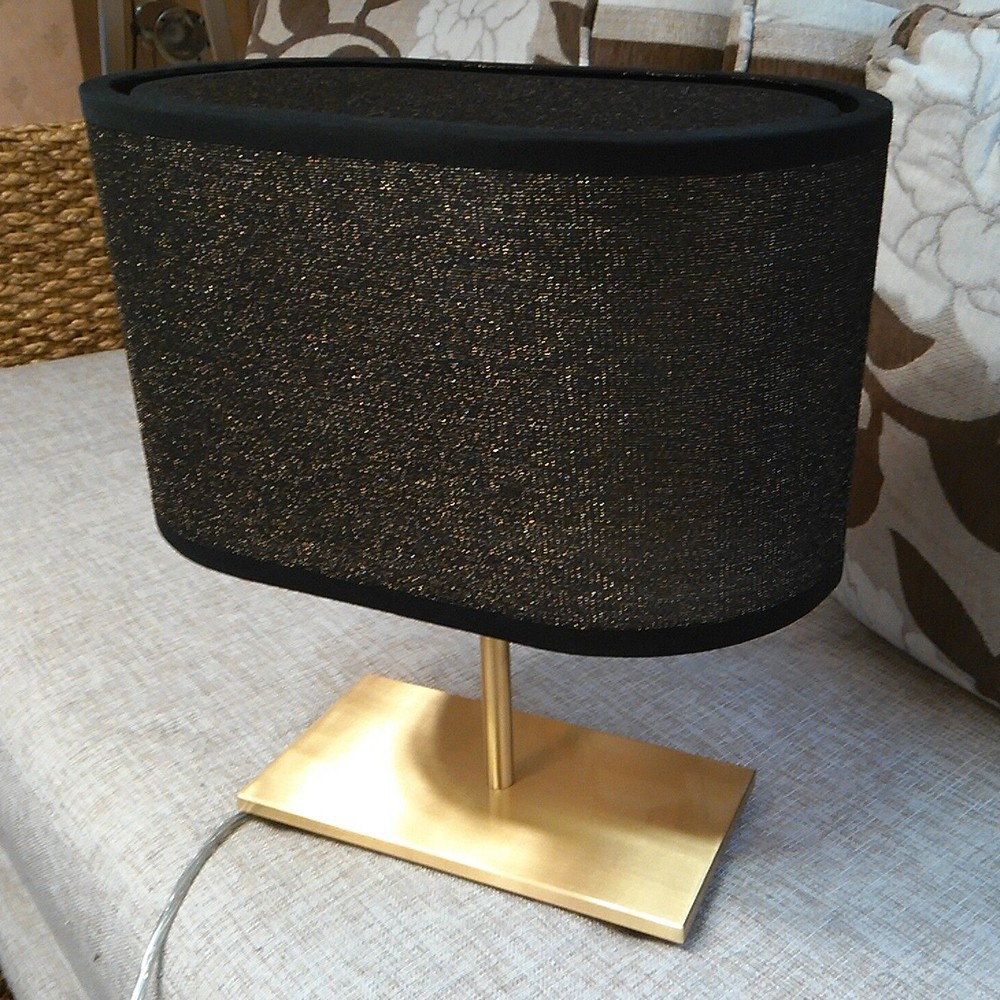 Luxury Copper Brass High-grade double fabric hotel table lamp reading light,MC8020