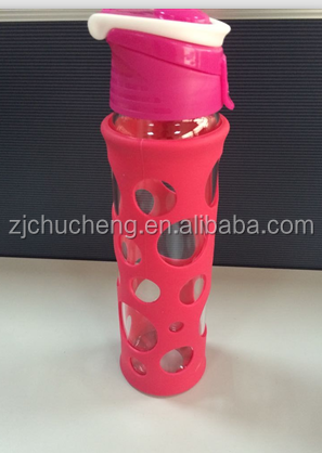 Resist Broken ,BPA free Glass Water bottle/Drinking Sport water Bottle,silicone bottle sleeve
