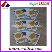 Single wall PE coated paper cup fan shape