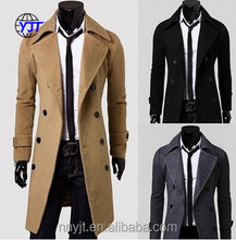 Autumn and Winter long double-breasted men coat slim leisurely
