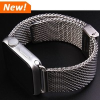 Luxury For Apple Watch Band 38/42mm Milanese Loop Woven stainless steel With Metal Adapter Case 1:1 original For apple Watchband