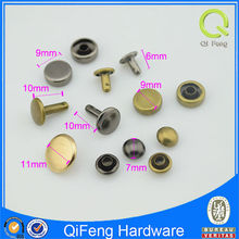 wholesale 7mm*6mm anti brass & nickle metal decorative rivets and studs for shoes