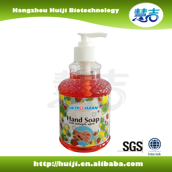 Natural Fruit scented antibacterial hand soap with Aloe Vera
