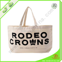 For shopping or travel carry wholesale custom print cotton bag