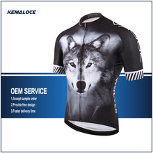 Team Race Bike Shirt,Youth Cycling Jersey,Wolf Professional Cycle Top