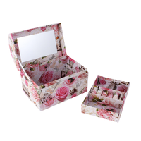 Antique art paper jewelry box