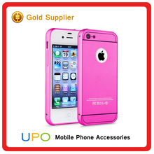 [UPO] 2 in 1 Detachable Aluminum Metal Frame Plastic Phone Cover Case for iPhone 4 4s SE