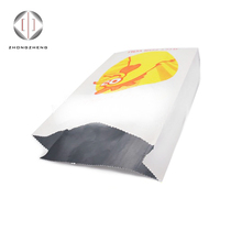 BBQ Kebab hot dog food sandwhich chicken aluminum foil lined paper bag for hot food/fast food packaging bags