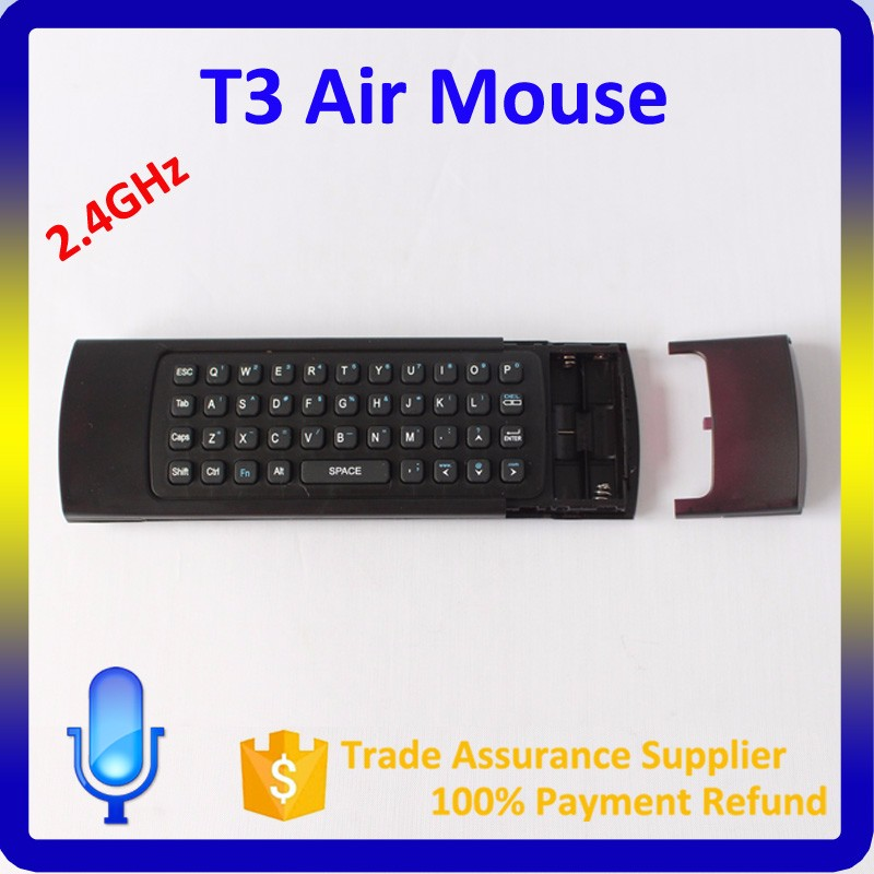 3 IN 1 Multifunction Air Mouse 2.4G Fly Air Mouse Wireless Keyboard T3 IR Remote Control