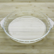 Super Sale! Functional Pyrex Microwave Oven Round Glass Pizza Plate