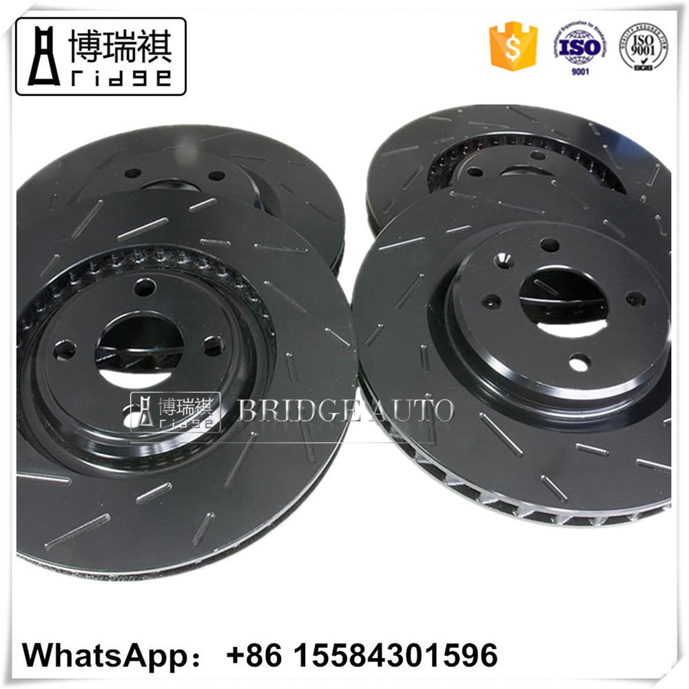 Motorcycle drilled and grooved slotted rotors 321 615 301 A for VAG