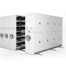 High density mechanical library mobile shelving storage system,archive box file compactor storage movable shelves