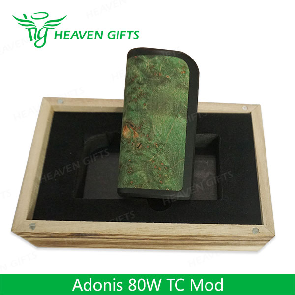 100% Original Wood 80W Arctic Dolphin ADT-80TC Adonis MOD Electronic Cigarette