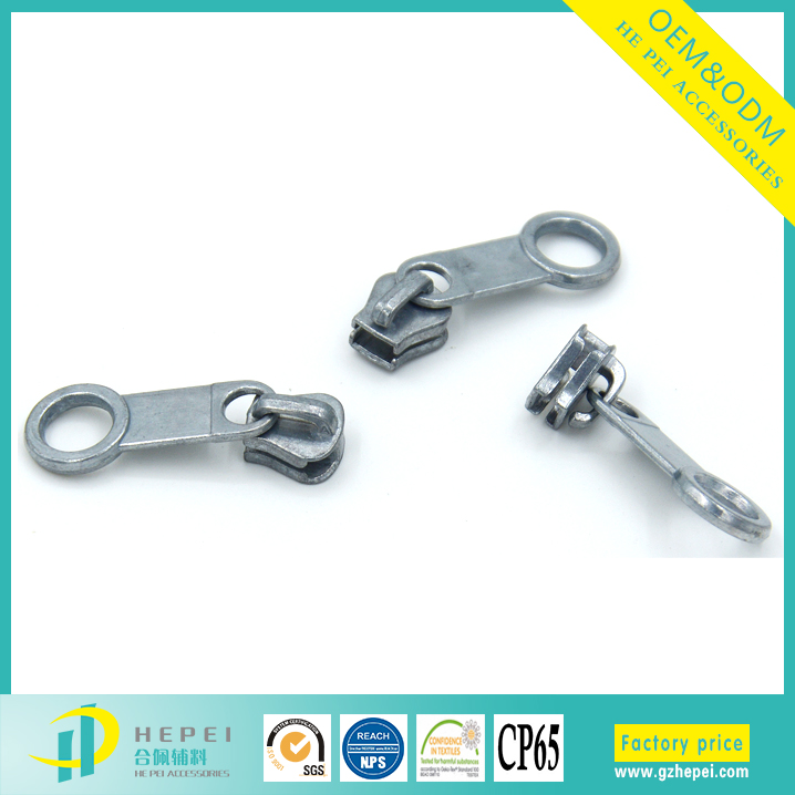 Various colored plastic zipper puller tabs wholesale with zipper runner