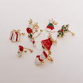 Cute Christmas Ear Cuff Snowman/Tree/Bells/Santa Claus/Reindeer/Walking Stick/Gift/Stud or Clip on Earring