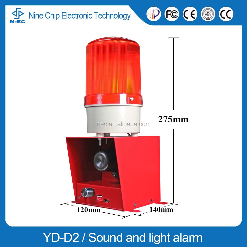 Alarm siren for emergency, alarm sirens sound and warning light sound alarm