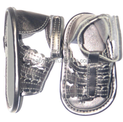 Silver wholesale summer baby sandals