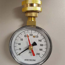 "0-200 psi 0-300 psi red maximum indicating pointer garden use Water NH 3/4"" - 11.5 HOSE connection Pressure Gauge"