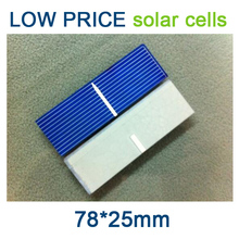 High efficiency polycrystalline solar cells 78*25mm can DIY solar panels [factory direct]