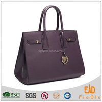 S764-A2984 -classical genuine leather hand bags famous tote bags with lovely hangtag