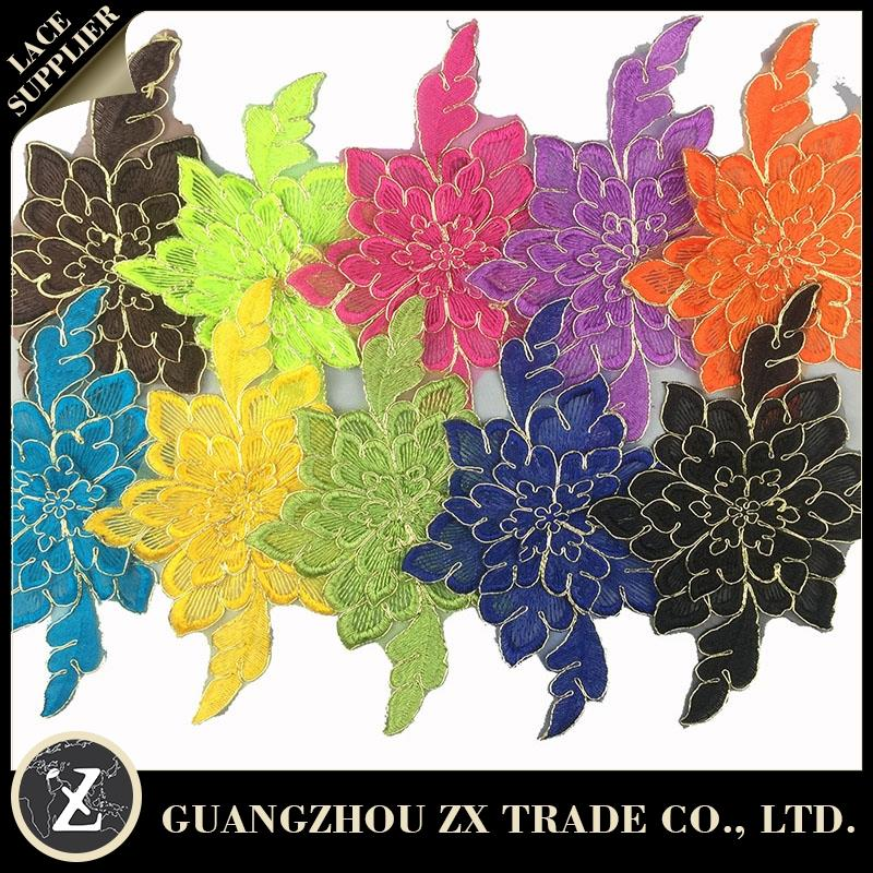 guangzhou international zi xiu, floral tulle lace embroidery, fabric cotton guipure lace