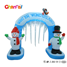 2017 New Product 240cm High Good Quality Inflatable Snowman Arch