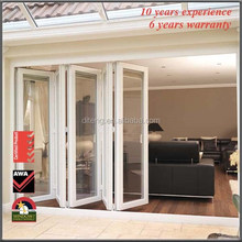 German brand hardware high quality bi folding door/Double glazing aluminium bifold door / Aluminum