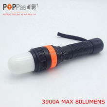 1W powerful led zoom in-out warning flashlight power by 3AAA batteries