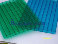 polycarbonate bus shelter curved roofing sheet