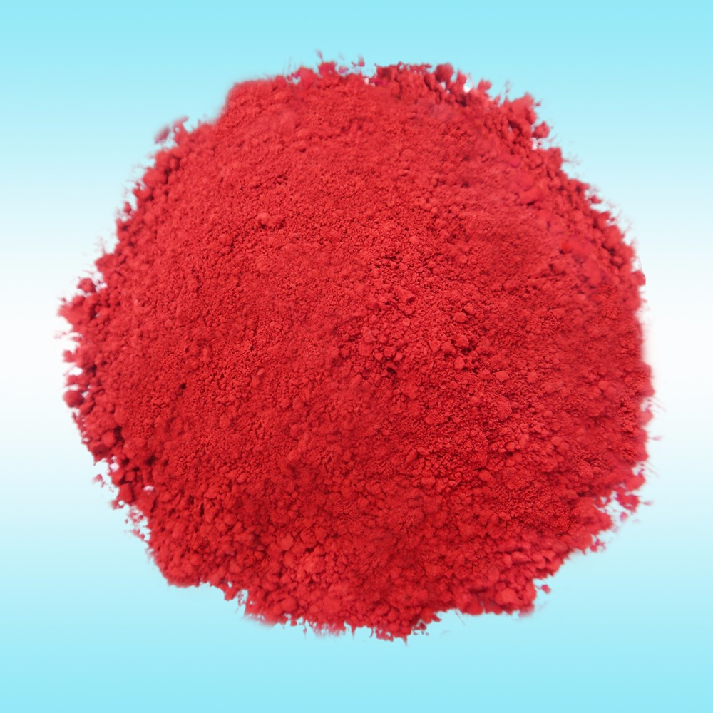 Waterproof iron oxide red pigment powder for crayon