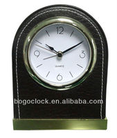 Wholesale Leather Hotel Alarm Clock