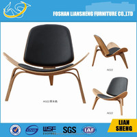 Ash bend wood+PU leather Dining chair/ wood Chair / cafe chair A022-A21