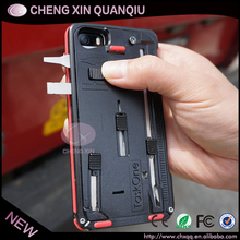 [CX]New Creative Knife Case for iPhone 5S 5G with Slide Out Pocket Knife and Camping Multifunction Knife phone case