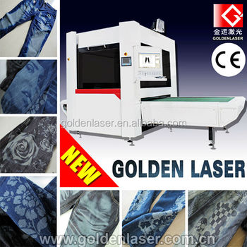 Laser Marking Denim Machine/Jeans Galvo Laser Engraving