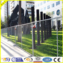 6' high x 10' long chain link portable temporary fence panels