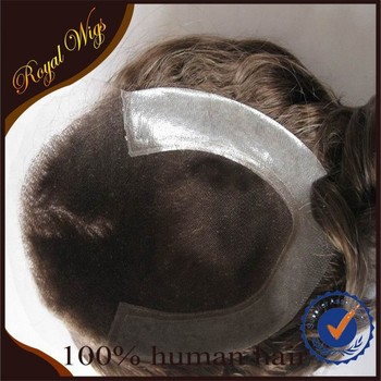 2015 New feshion High Quality 100% Human Hair Toupee for Men