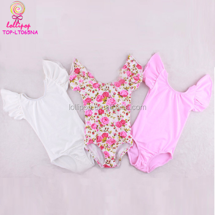 Stage wear costume clothes toddler leotard flutter ruffle sleeves dance wear wholesale girls wearing leotards