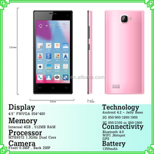 Cheap 4.5inch 2GB+256MB 2G android mobile phone from shenzhen China