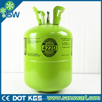 Mixed gas R422d refrigerant high purity from Ningbo port