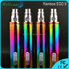 Cheap wholesale GS EGO II rainbow 2200mah vaporizer battery