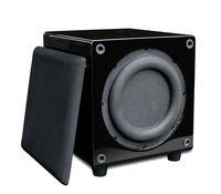 factory supply 10-inch 100-watt Powered Subwoofer Black Bass Amplifier Audio Sound Home Theater Powered Active Subwoofer