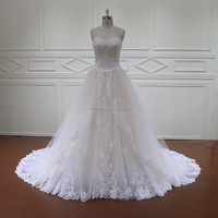 HD026 beaded lace ready made ball gown wedding dresses for children