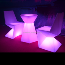 remote control rgb color changing rechargeable portable acrylic led party wedding event bar table