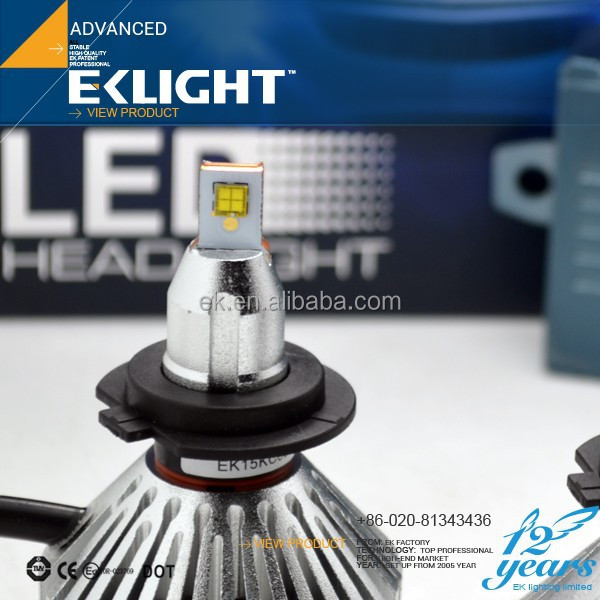 EK Smart System High Power Auto Headlamps 12v 24v H1 H7 9005 9006 H8 H11 H10 3600lm car h3 led headlight bulbs
