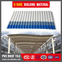 Green house Plastic material one layer pvc roofing tiles/corrugated plastic upvc roof sheet/high quality plastic roof tile