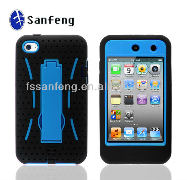 For Apple iPod Touch 4 Silicon case, Robot Rubber Cover For Apple iPod
